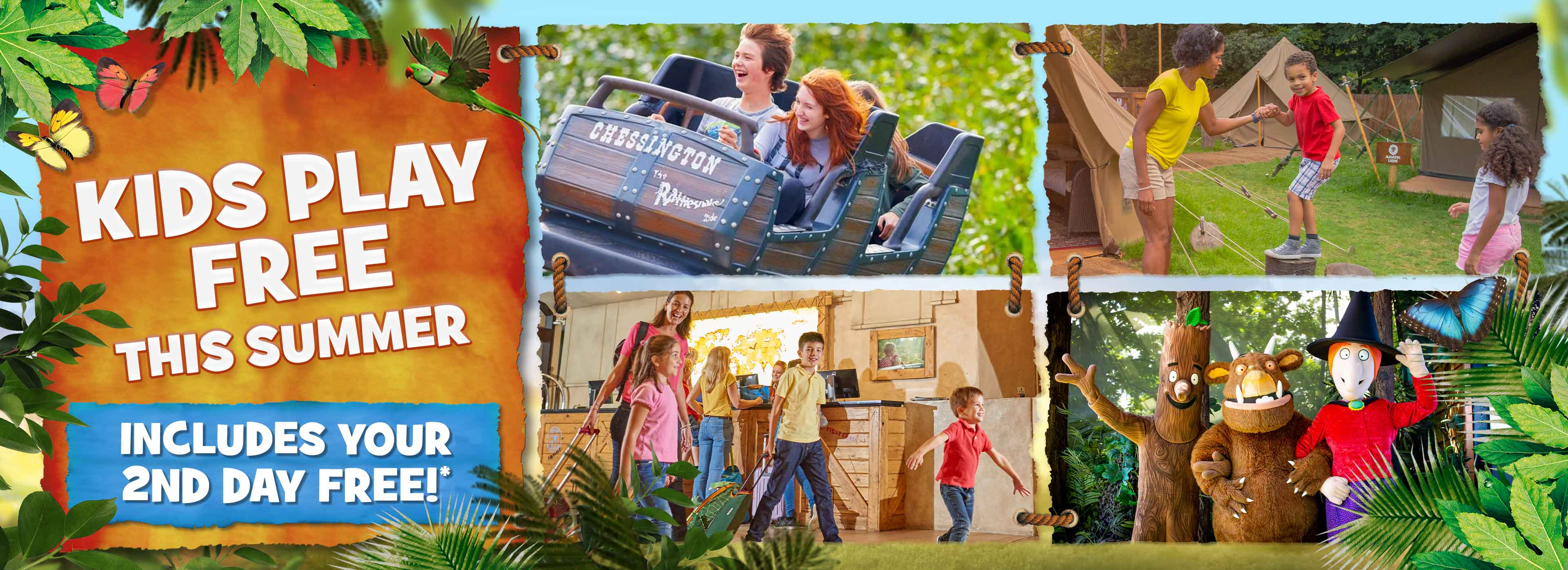 Kids Play FREE this Summer at Chessington World of Adventures Resort
