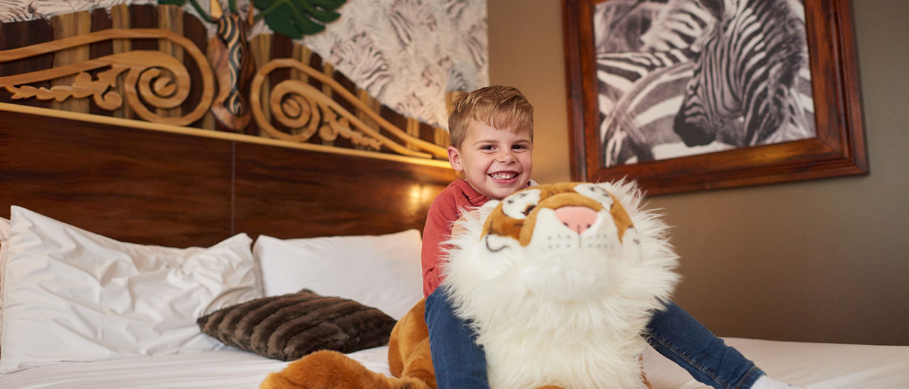 Zebra Theme at Chessington World of Adventures Resort Hotel