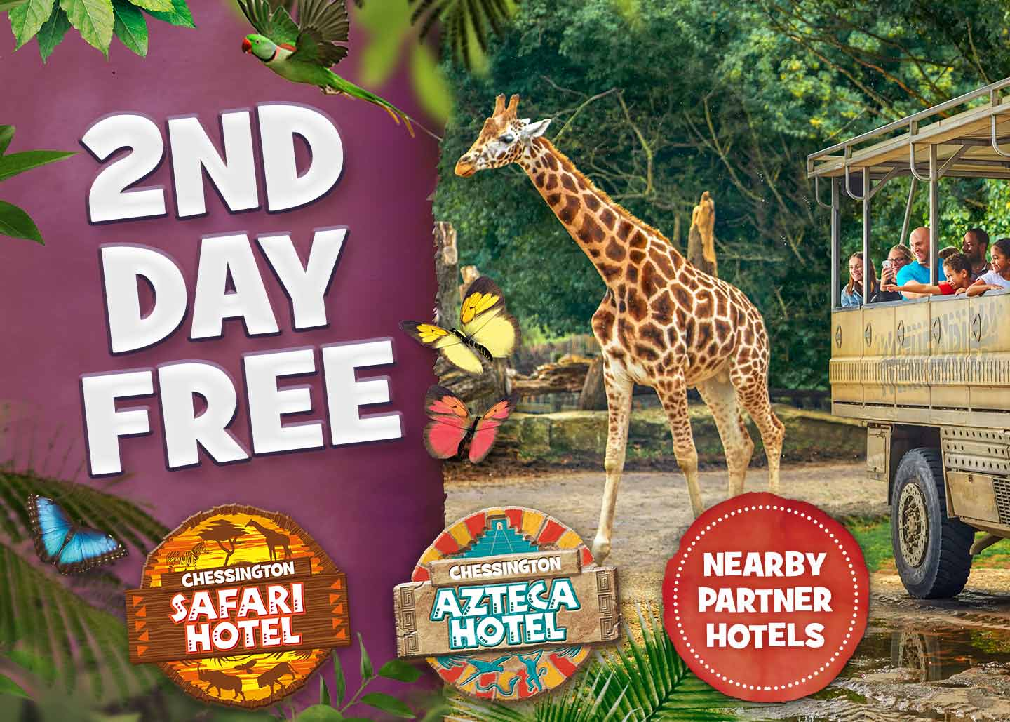 2nd Day FREE at Chessington Resort