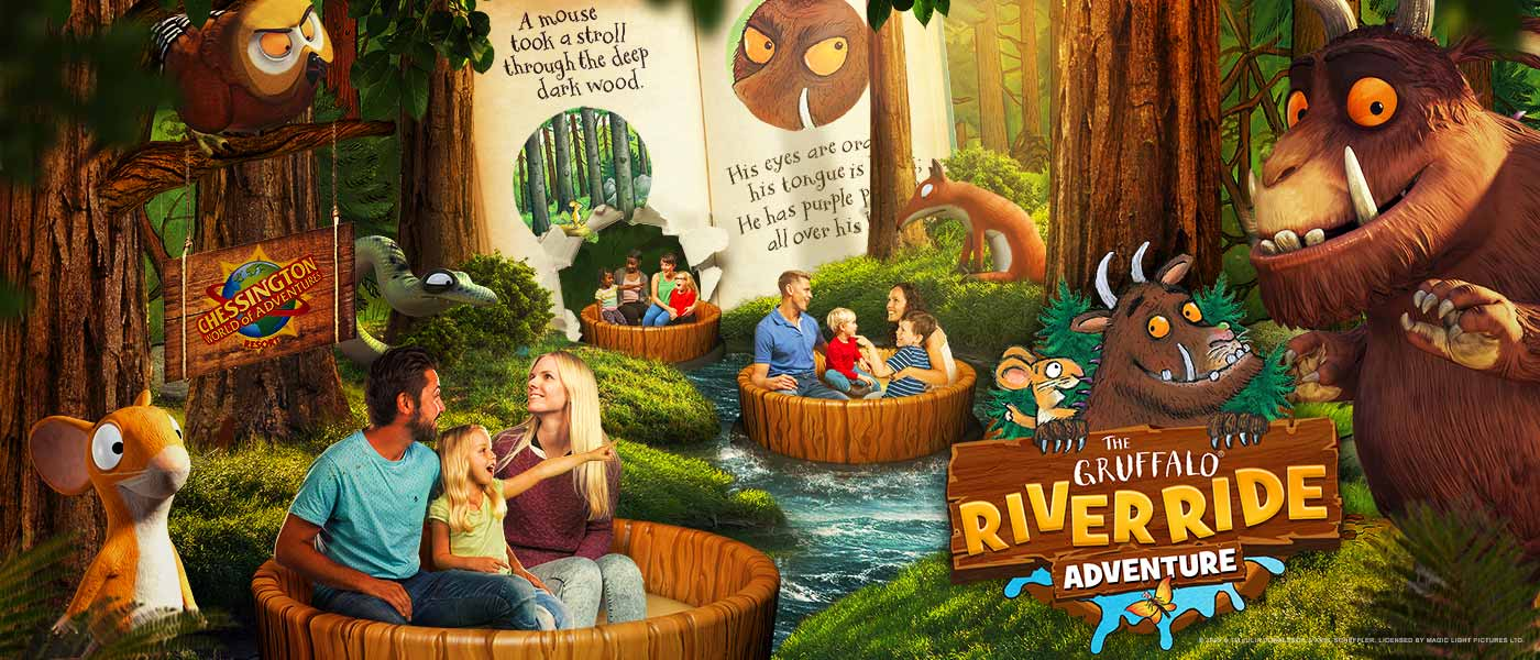 The Gruffalo River Ride Adventure at Chessington World of Adventures Resort